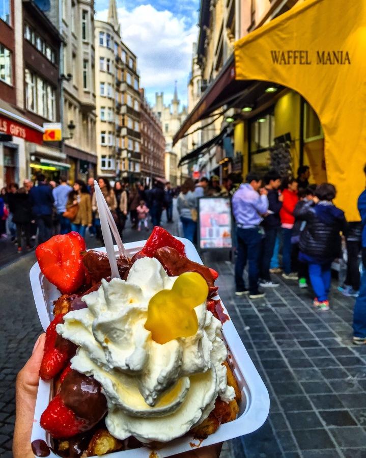 Belgian Waffles in Brussels,Belgium